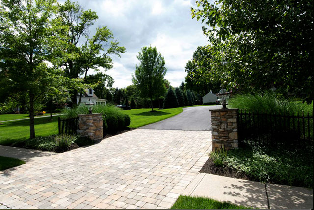 Stone Driveway Entrance Pillars : Sage landscape contractors watchung new jersey