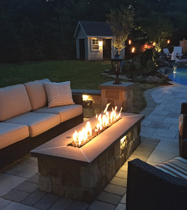 Landscape Lighting Gillette Nj: Fire Pit And Outdoor Fireplace Construction By Sage