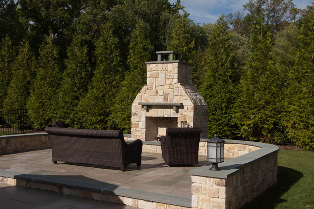 Large outdoor fireplace constructionFire Pit and Outdoor Fireplace Construction by Sage Landscape  . Large Outdoor Fireplace. Home Design Ideas