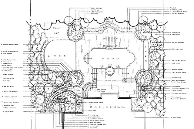 Landscape construction blueprints site plans photo 4 for Landscape blueprints