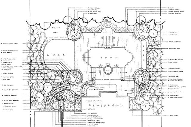 Landscape construction blueprints site plans photo 4 for Landscape blueprints